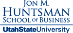Huntsman Wordmark with USU Blue
